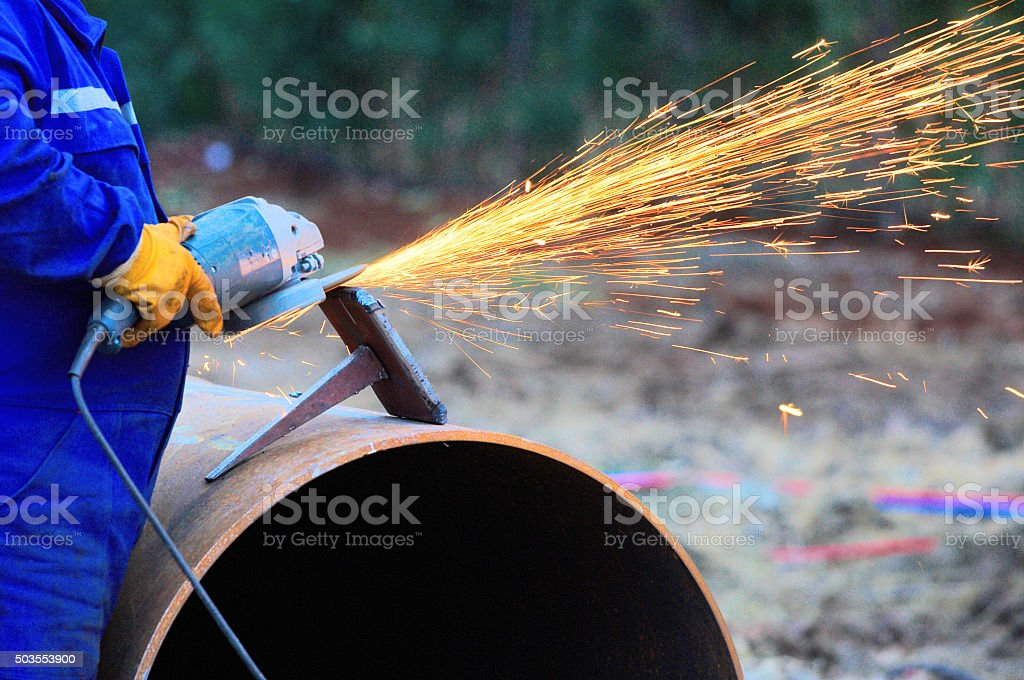 grinding stock photo