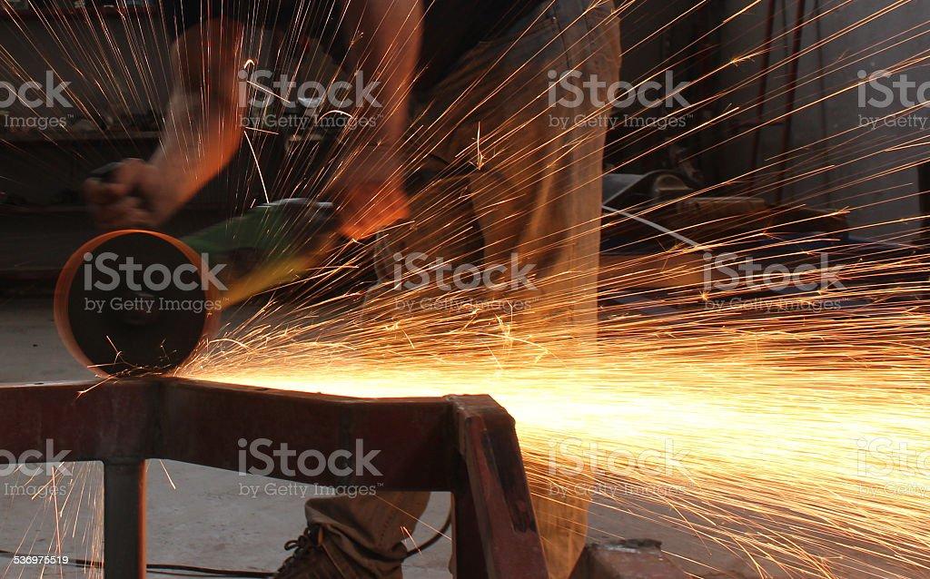Grinding stock photo