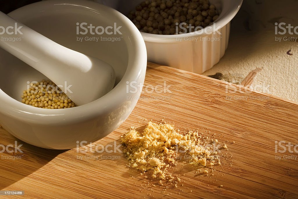 Grinding Spices royalty-free stock photo