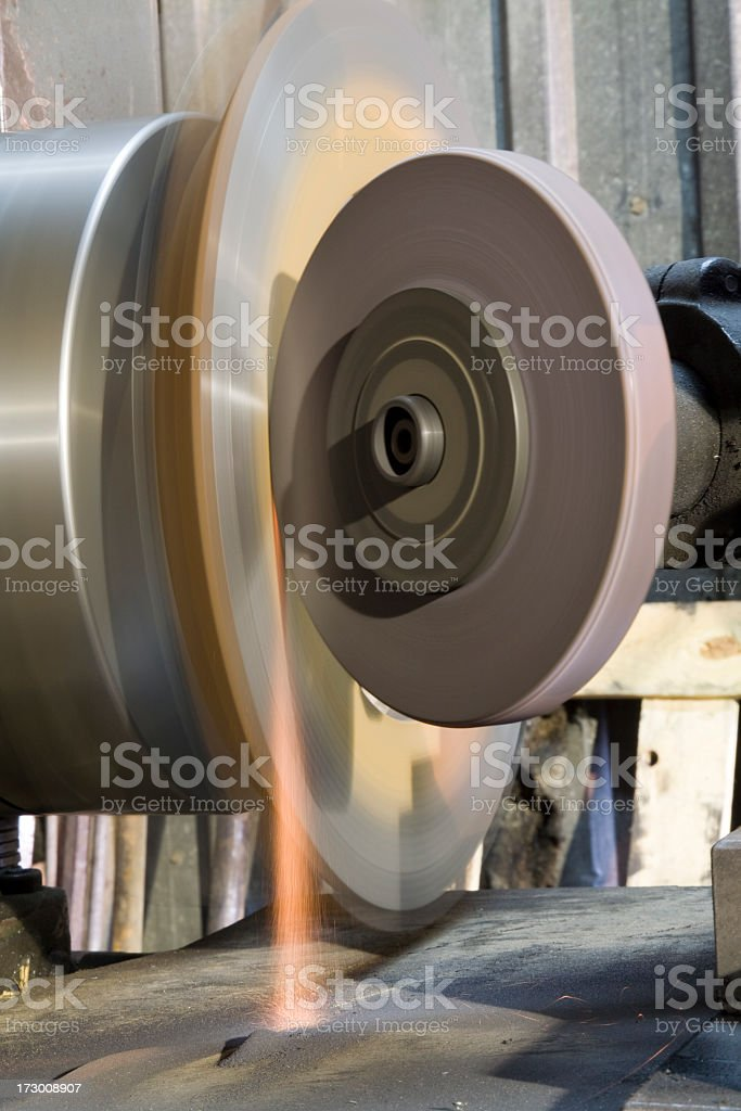 grinding with turning late: light royalty-free stock photo