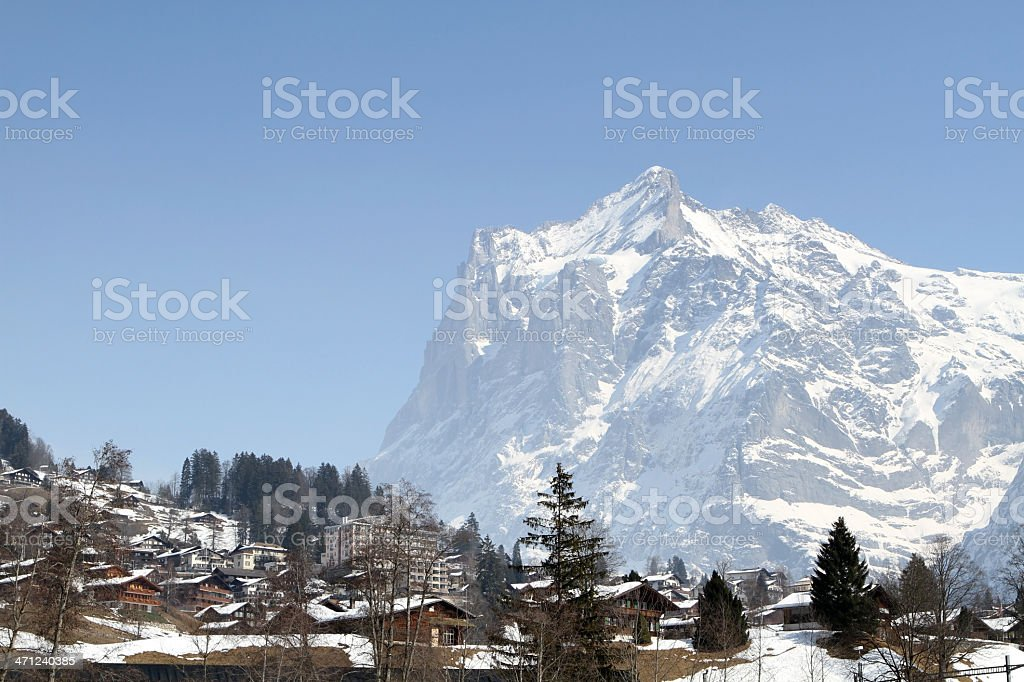 Grindlewald and the Eiger mountain, Berne Canton, Switzerland royalty-free stock photo