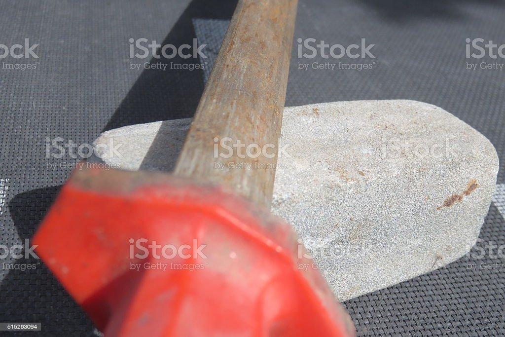 grindstone At work stock photo