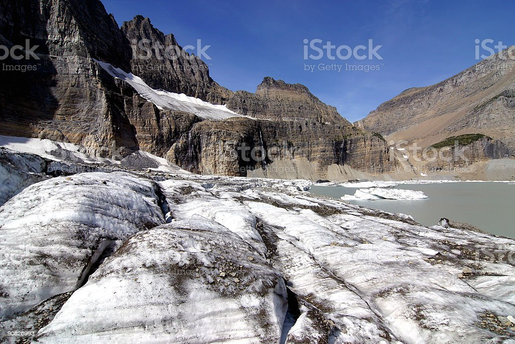 Grinell Glacier stock photo