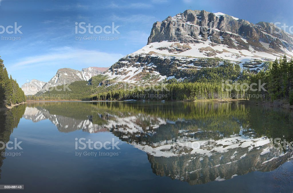Grinnell Fishercap Reflection stock photo