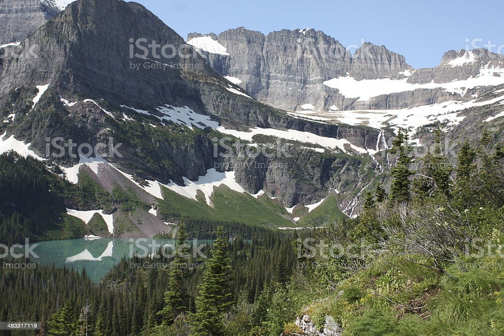 Grinnell Glacier, Montana stock photo