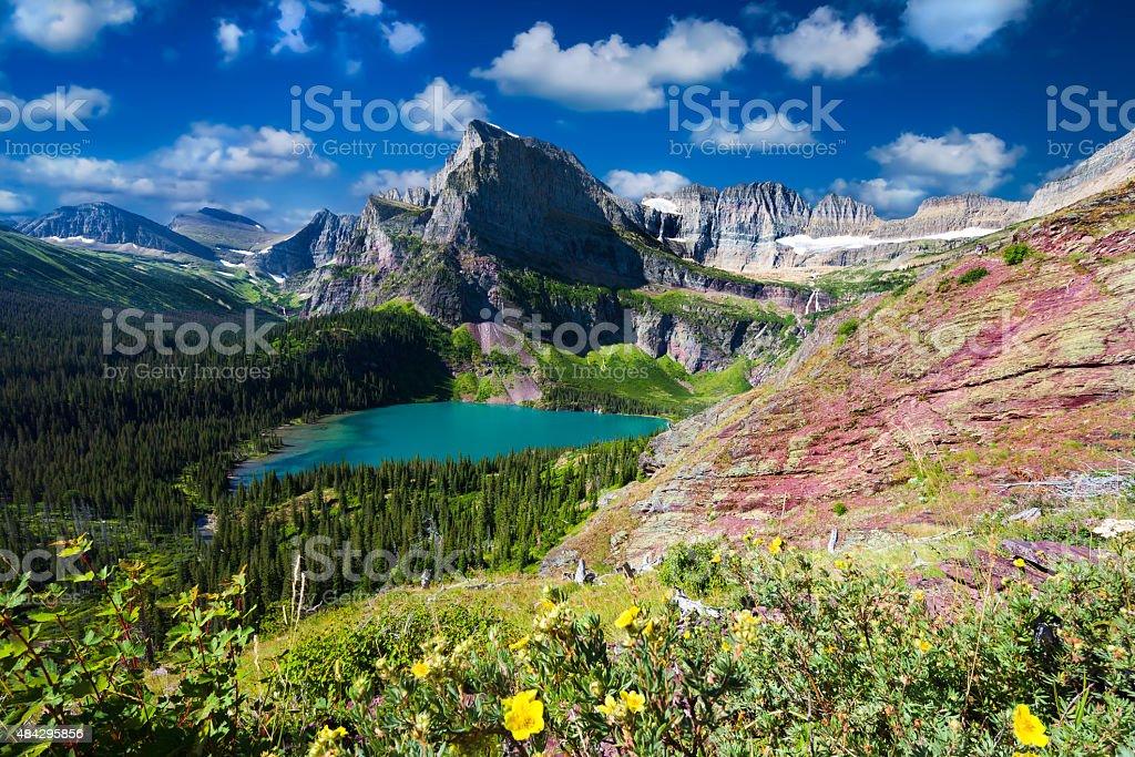 Grinnell Glacier Trail stock photo
