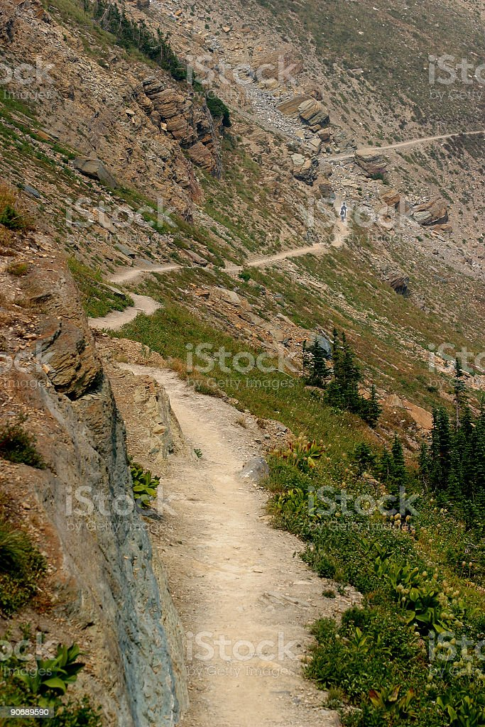 Grinnell Glacier Trail royalty-free stock photo