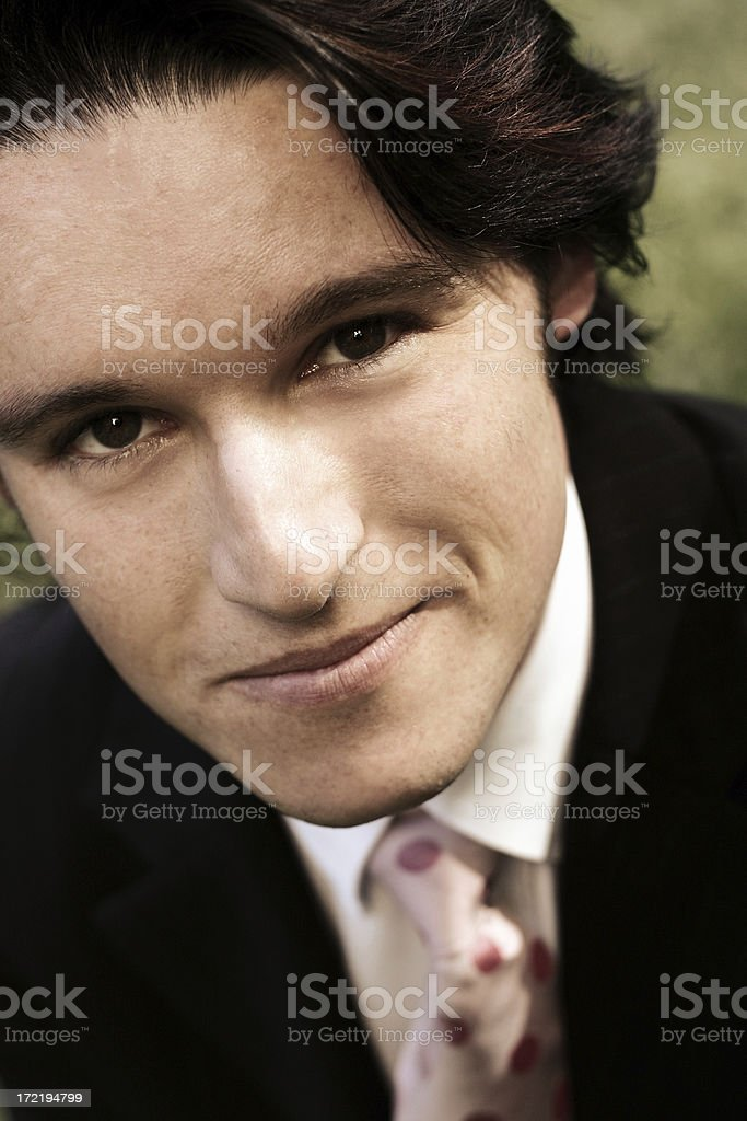 Grinning Businessman royalty-free stock photo