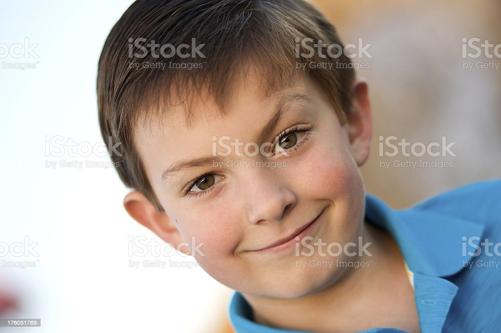Grinning Child stock photo
