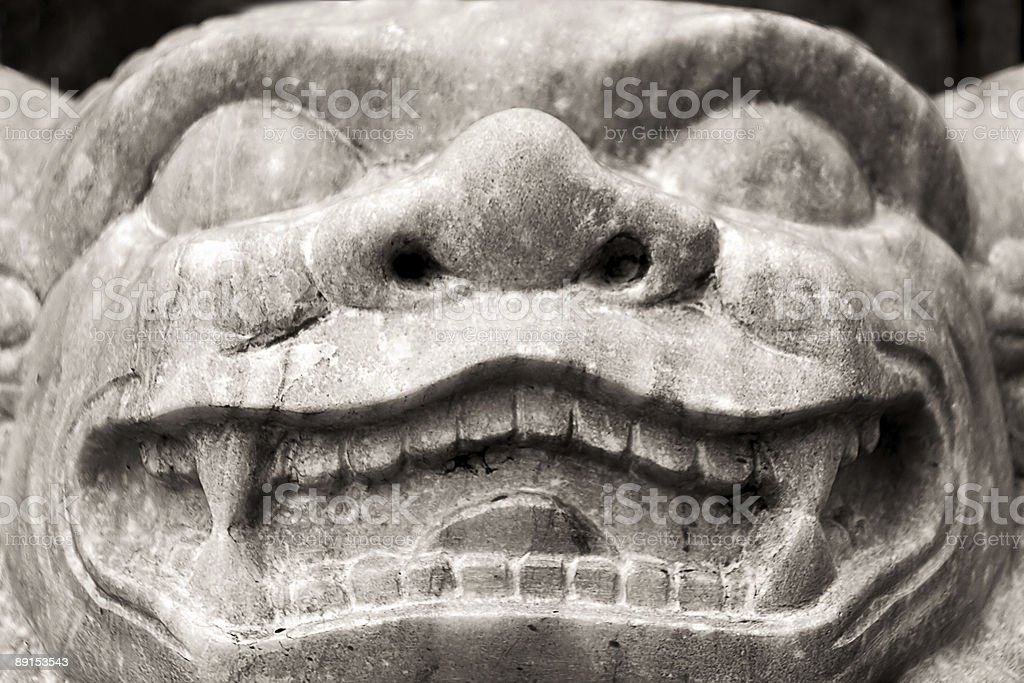 Grinning demon stock photo