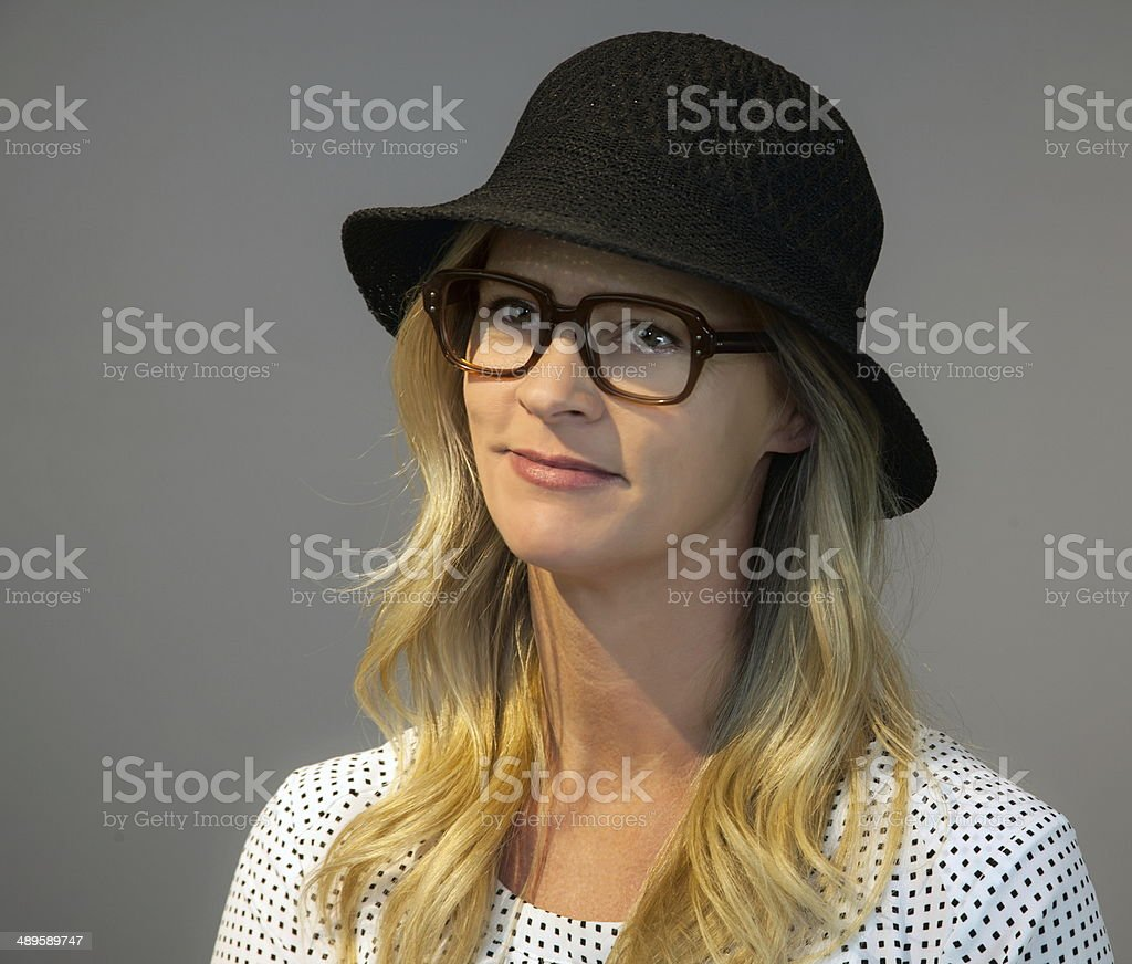 Grinning Female Adult royalty-free stock photo