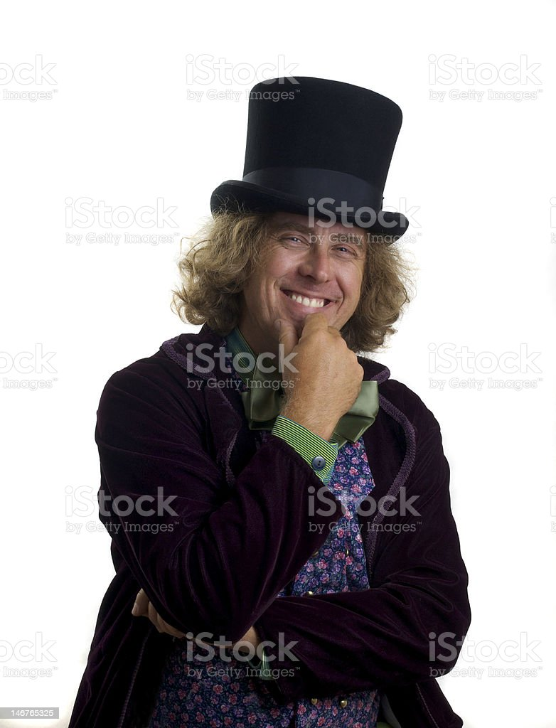 Grinning Mad Hatter royalty-free stock photo