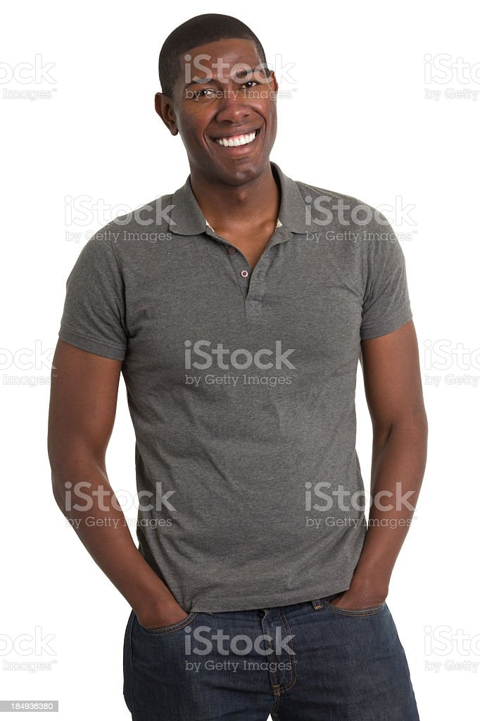 Grinning Young Man Standing royalty-free stock photo