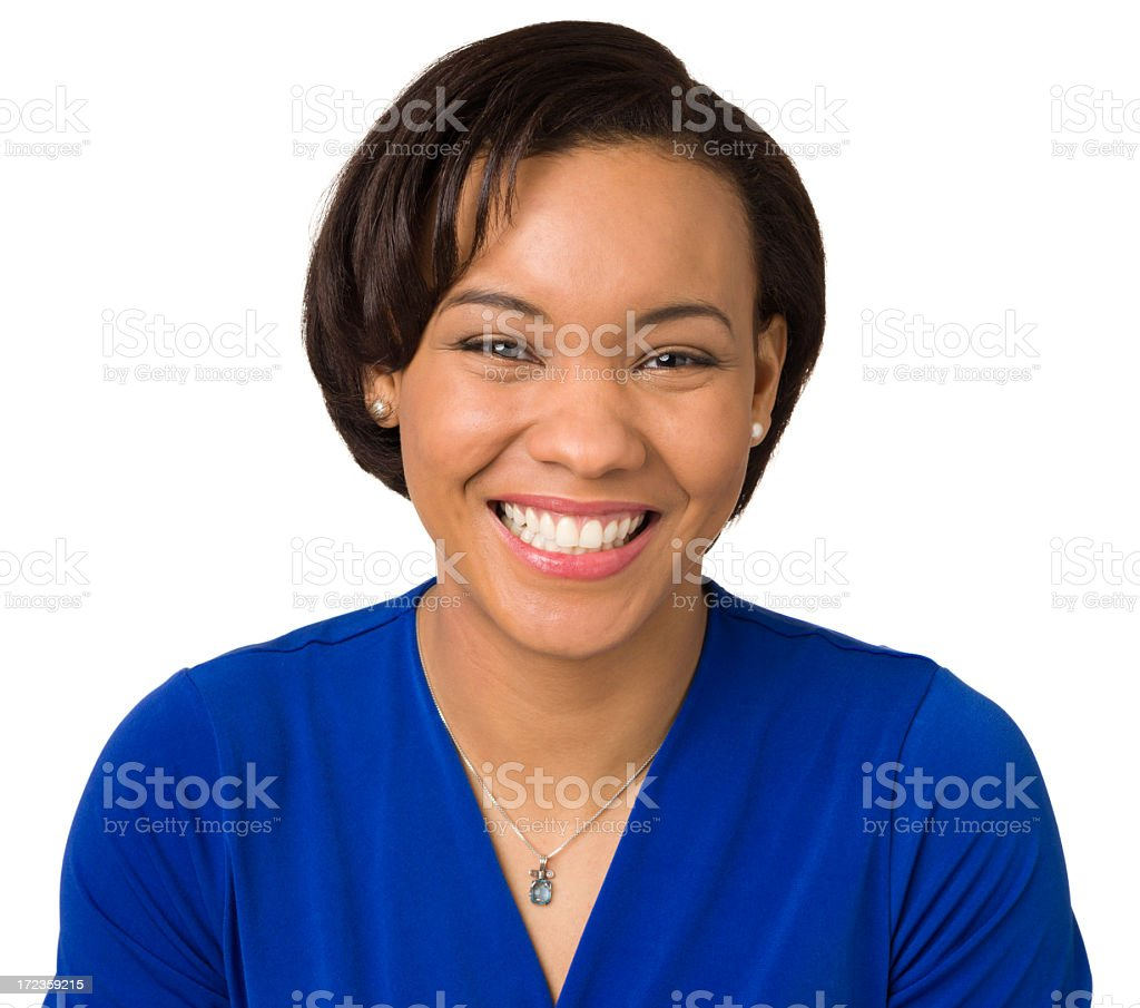 Grinning Young Woman Portrait royalty-free stock photo