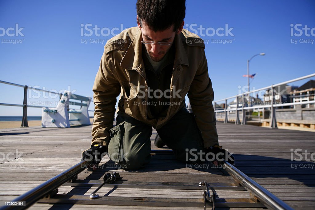 Grip Building Dolly Track royalty-free stock photo