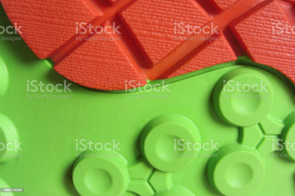 Grip technology for mountain shoes stock photo