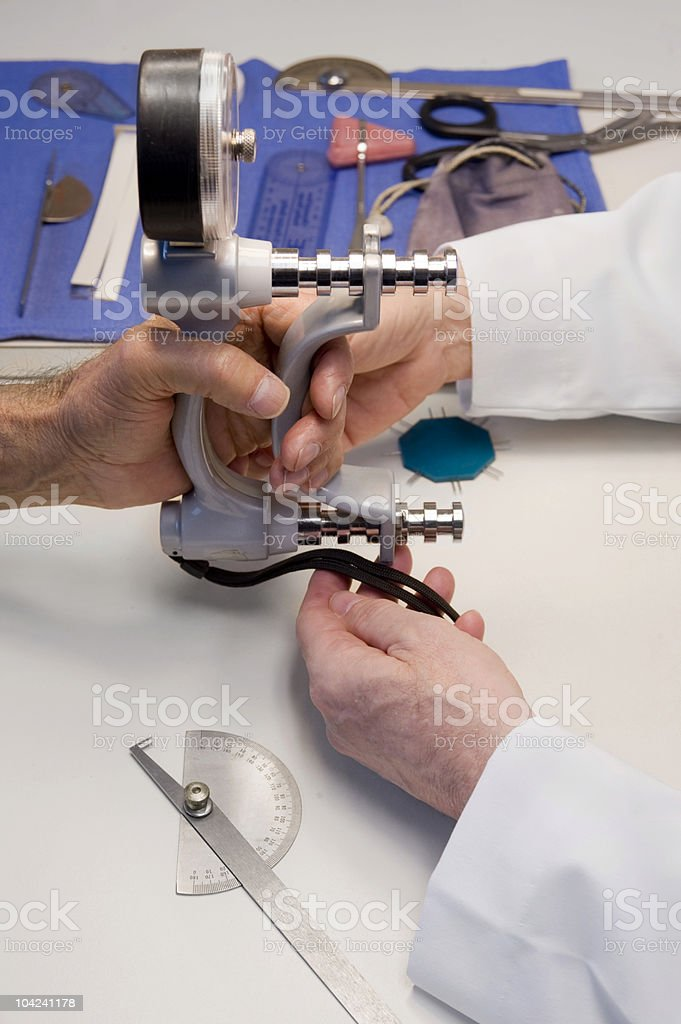 Grip Test stock photo