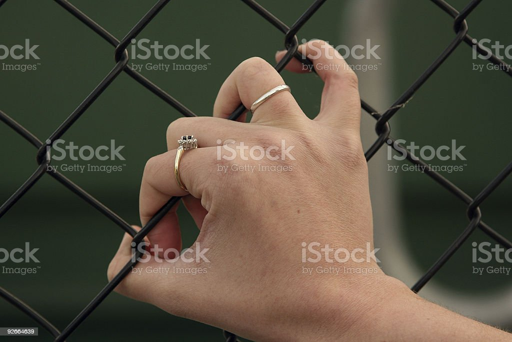 Gripping royalty-free stock photo