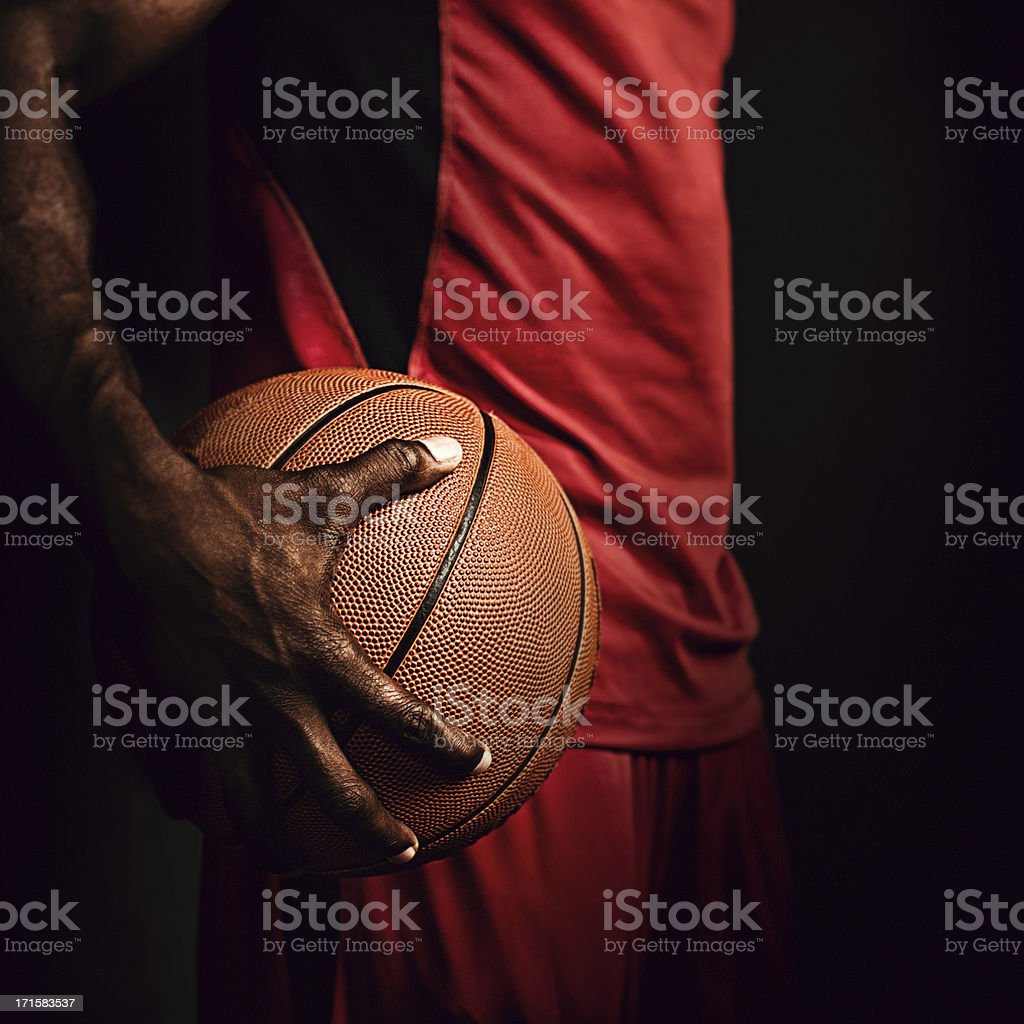 gripping the basketball stock photo