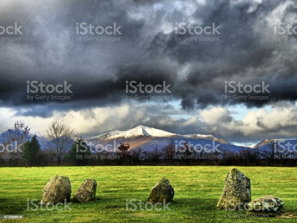 Grisedale Pike In Winter stock photo