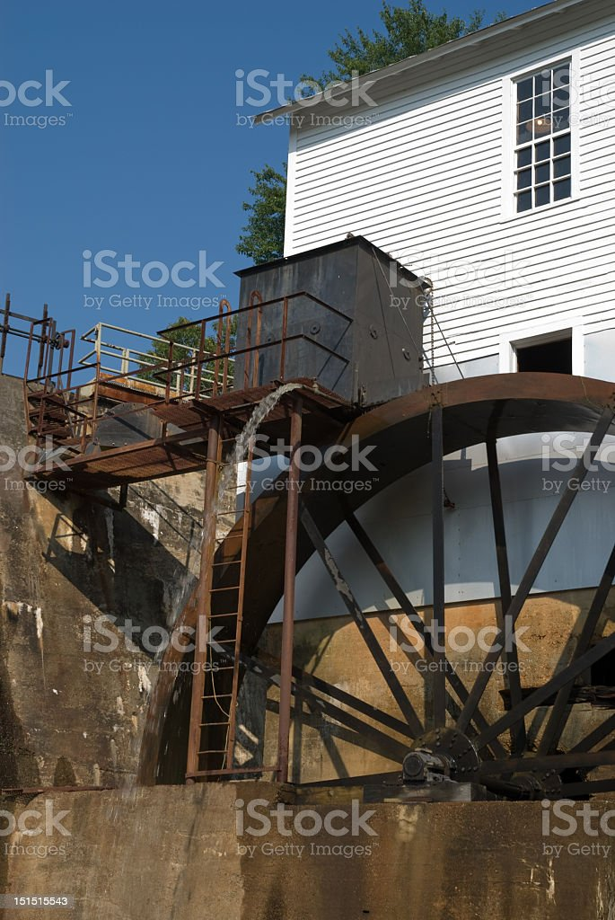 Grist Mill and Spewing Water royalty-free stock photo