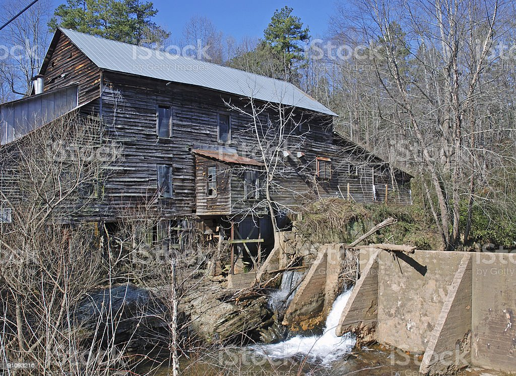 Grist Mill and waterfalls royalty-free stock photo