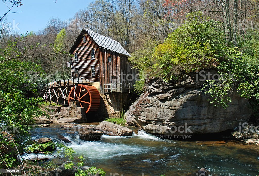 Grist Mill in rural W. Virginia royalty-free stock photo