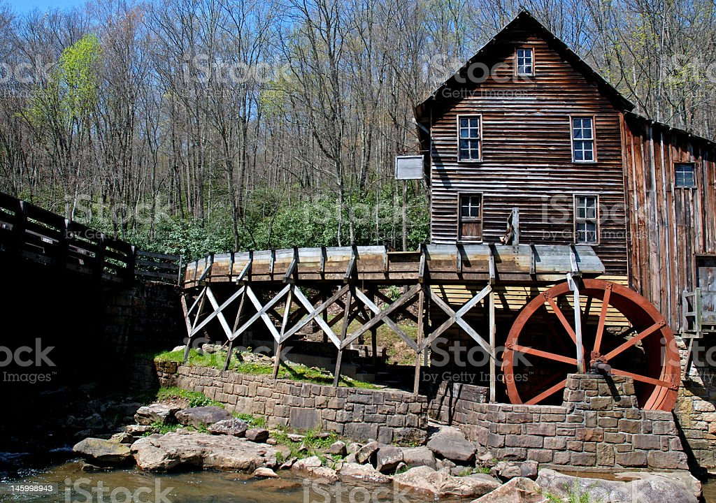 Grist Mill on the Rocks royalty-free stock photo
