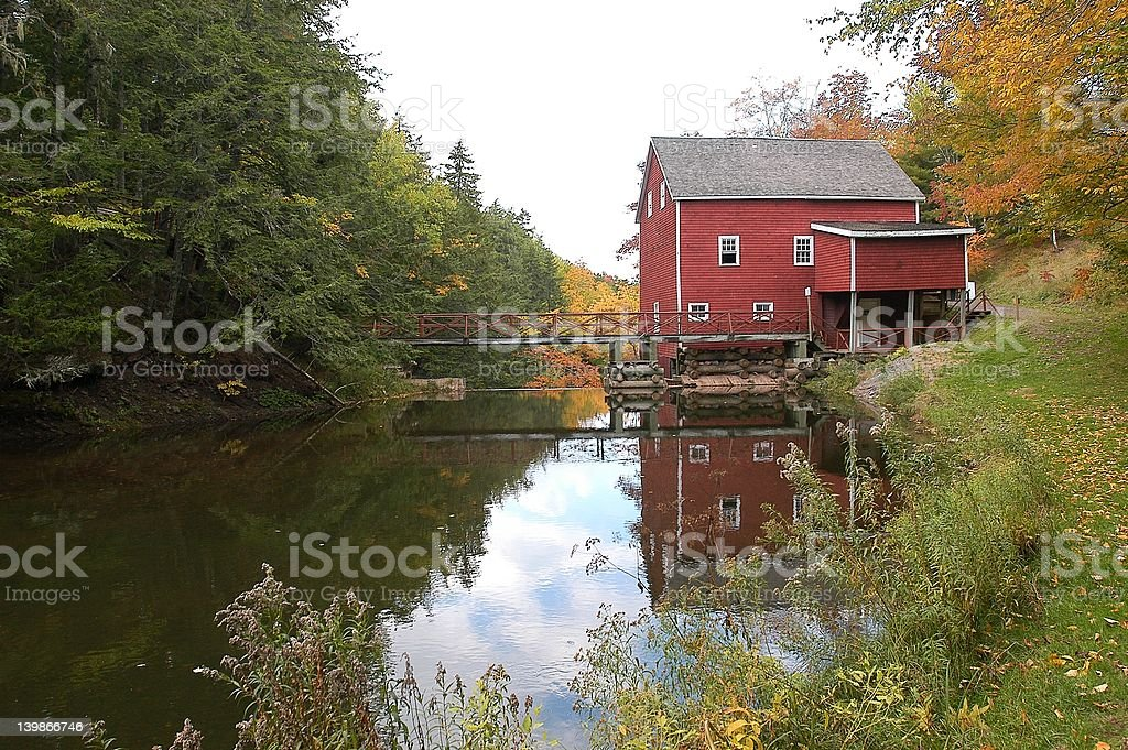 Grist Mill stock photo
