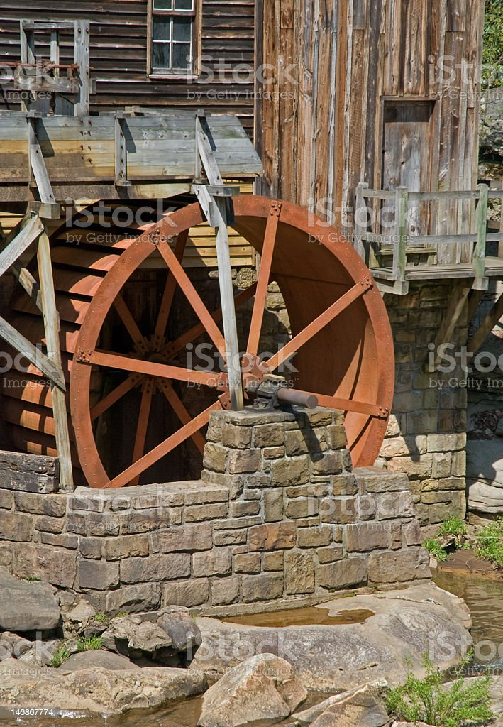 Grist Mill Wheel royalty-free stock photo