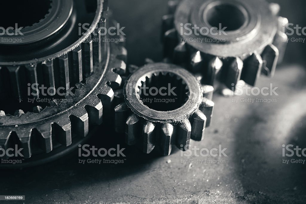 Gritty Gears royalty-free stock photo