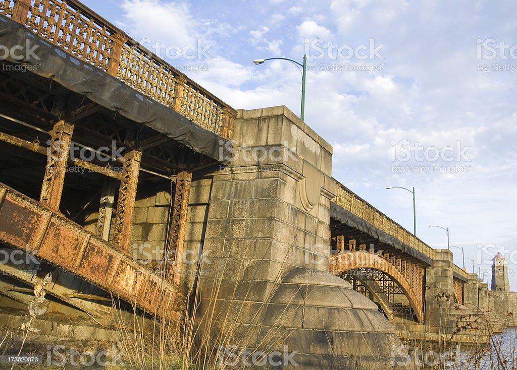 Gritty Underside of the Longfellow Bridge royalty-free stock photo
