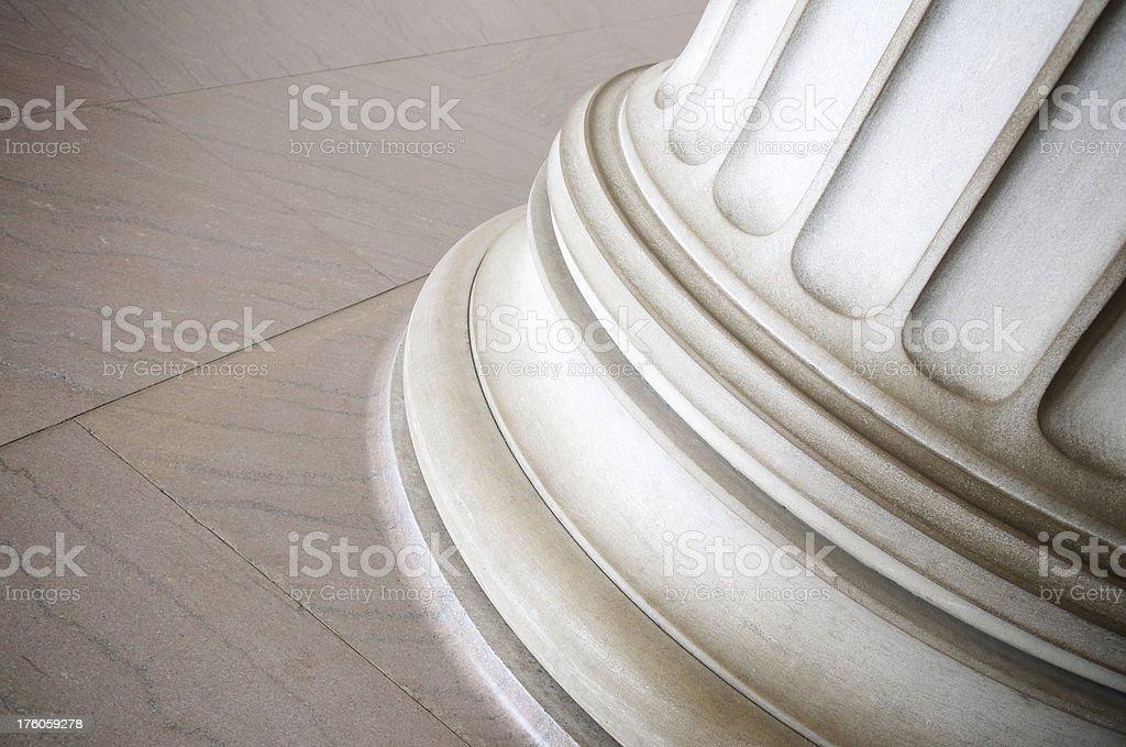 Gritty White Marble Column Base Background royalty-free stock photo