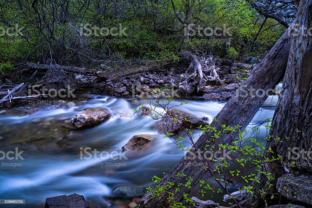 Grizzly Creek in Spring Glenwood Canyon stock photo