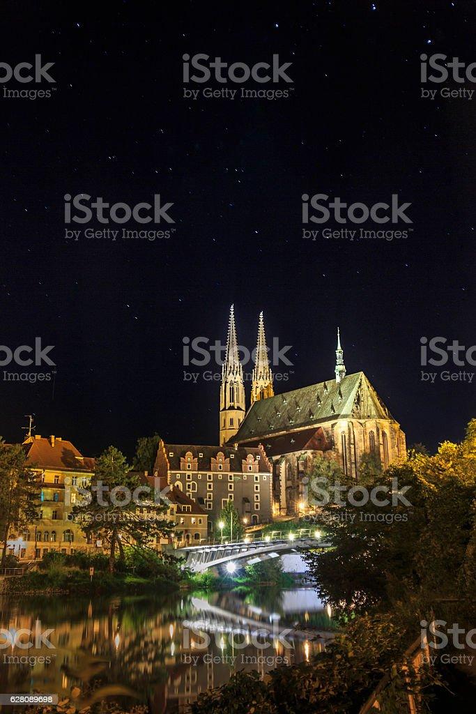 Görlitz bei Nacht stock photo