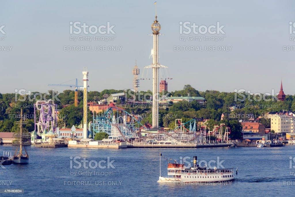 Gr?na Lund Amusement Park - Stockholm, Sweden stock photo