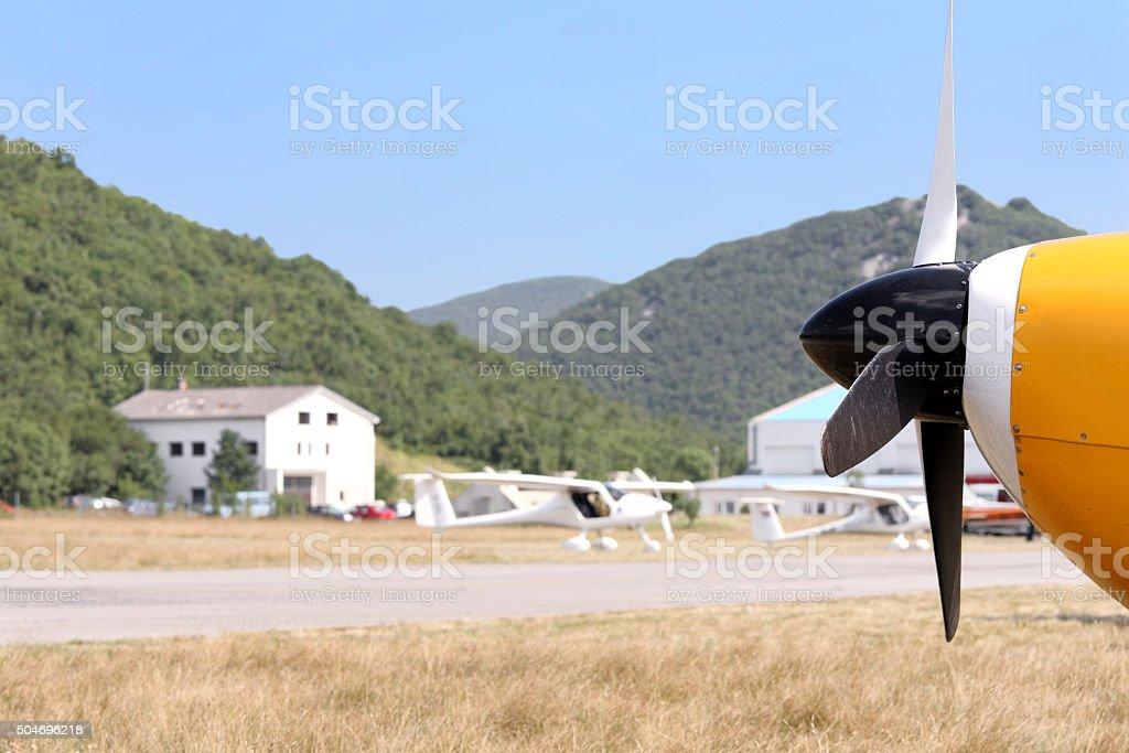 Grobnik Airport stock photo