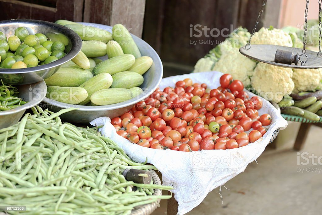 Groceries and vegetables shop. Bandipur-Nepal. 0442 royalty-free stock photo
