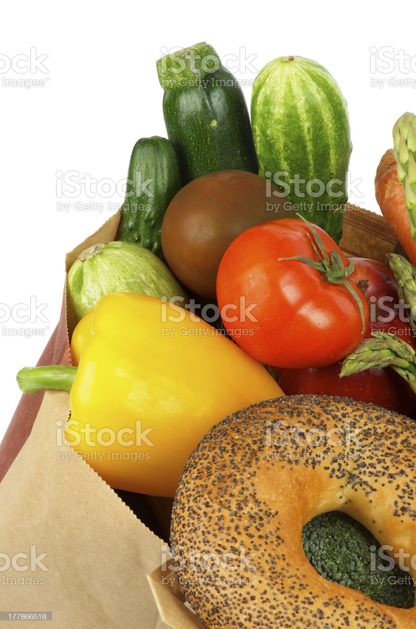 Groceries Bag royalty-free stock photo