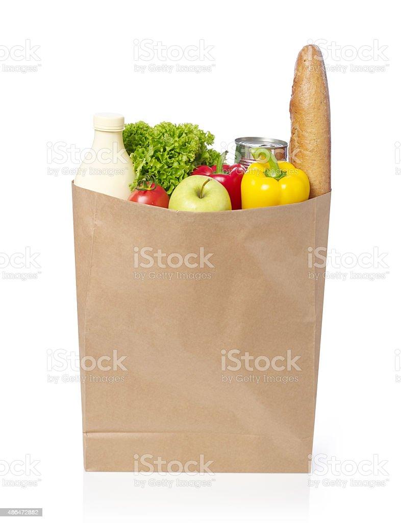 Groceries bag stock photo