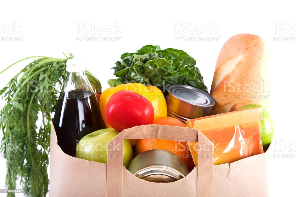 Groceries Edge royalty-free stock photo