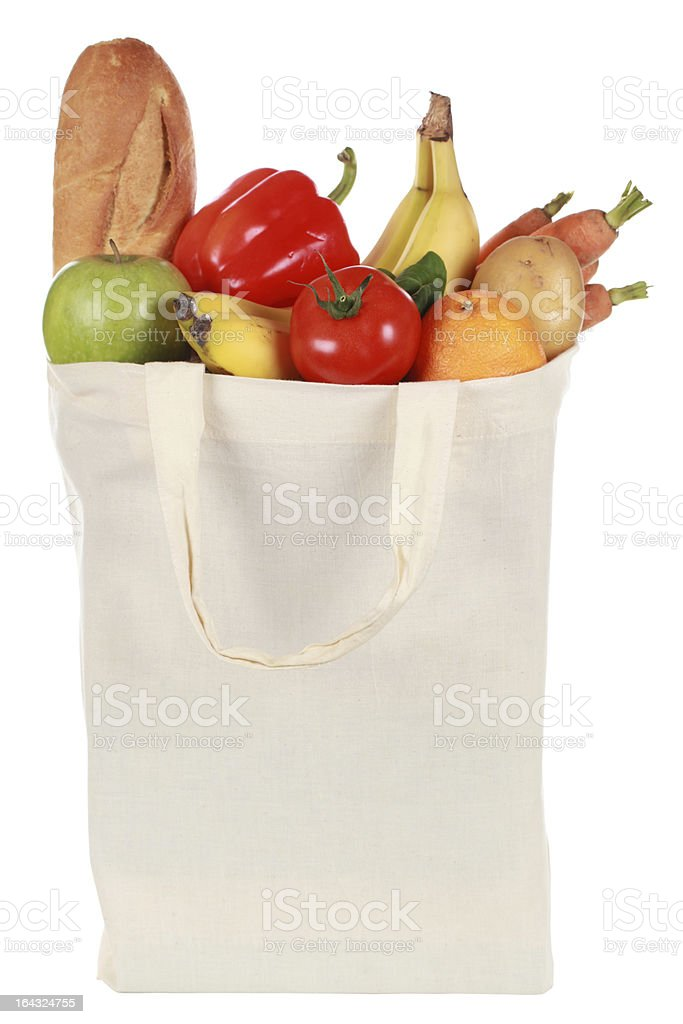 Groceries in a bag royalty-free stock photo