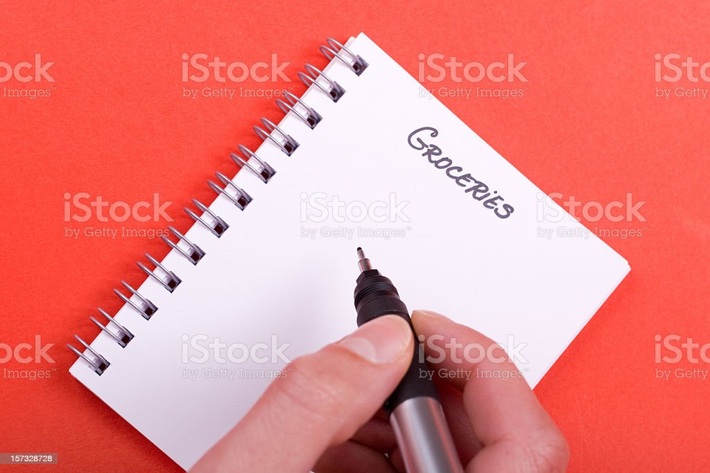 'Groceries list' royalty-free stock photo