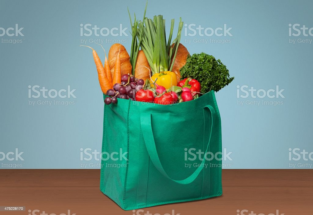 Groceries, Shopping, Bag stock photo