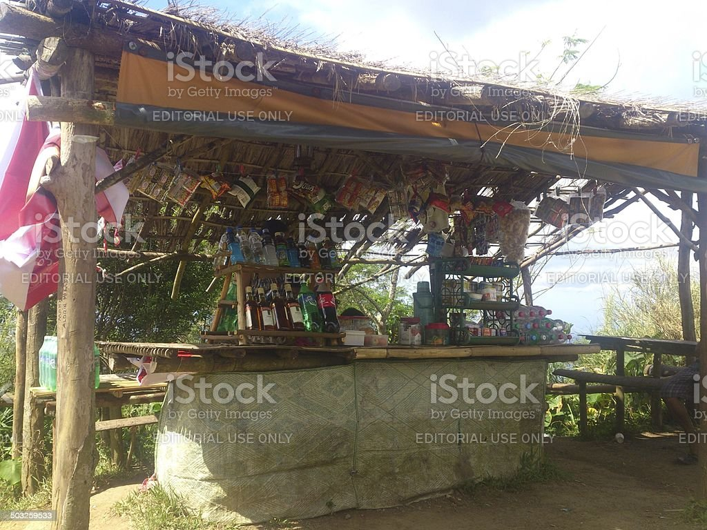 Grocery at Mt. Maculot stock photo