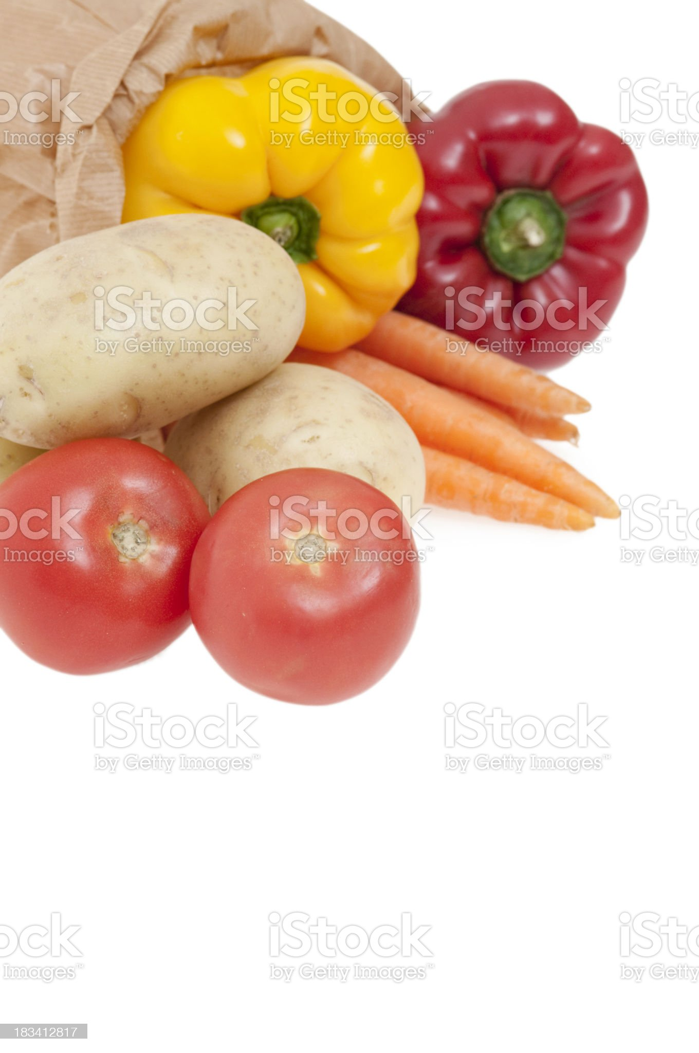 Grocery bag royalty-free stock photo