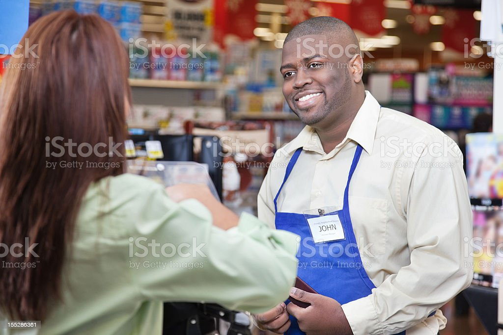 Grocery Check Out stock photo