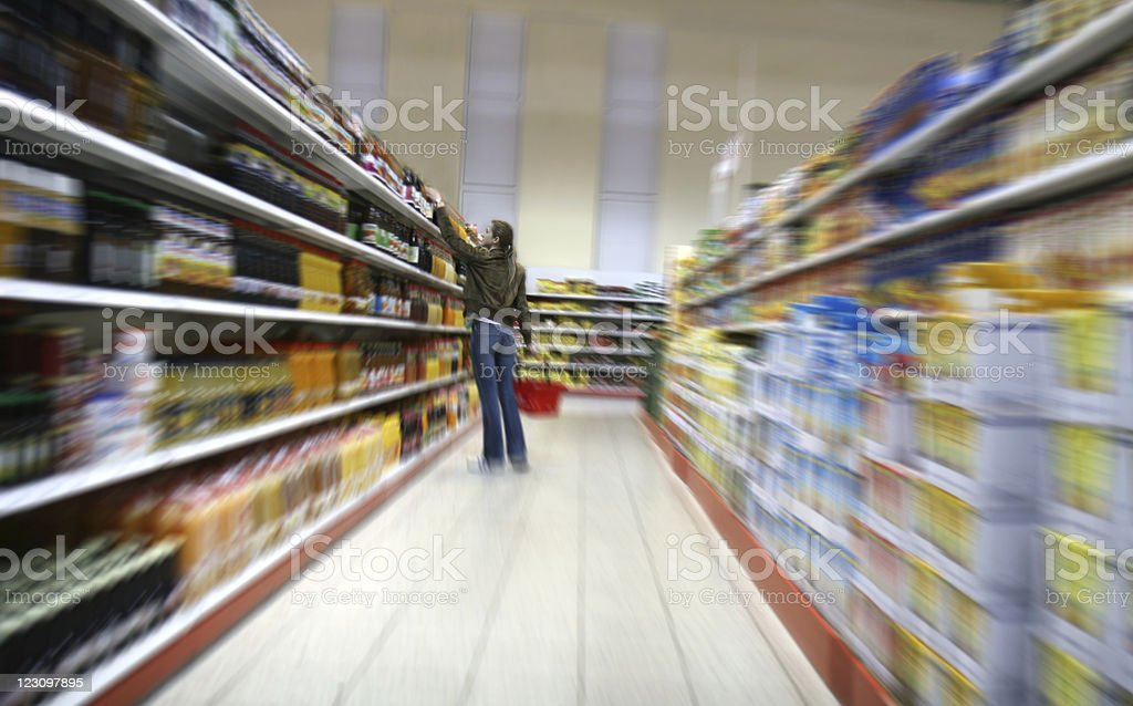 Grocery shopping royalty-free stock photo