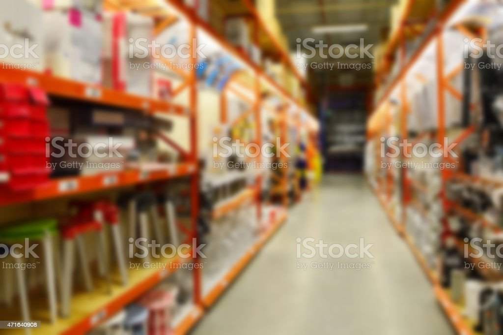Grocery store bulk aisle out of focus stock photo