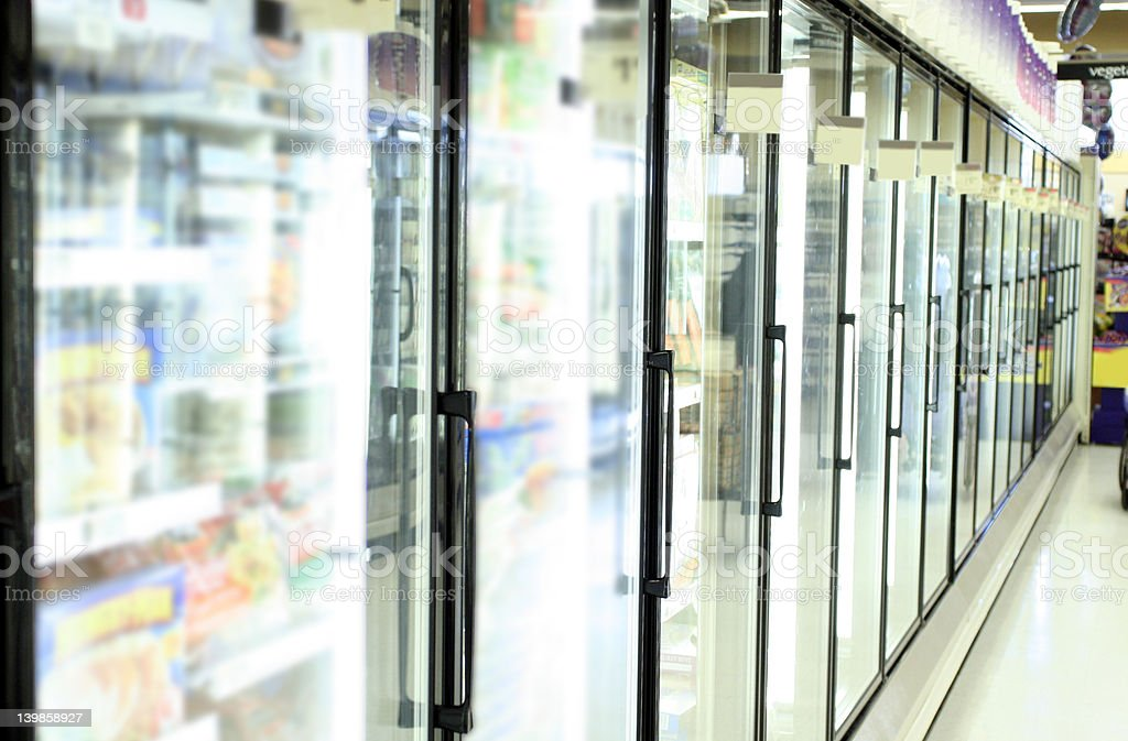 Grocery store freezer royalty-free stock photo